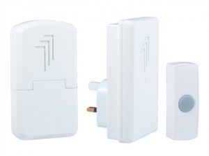 DB312 Wireless Doorbell Kit with Portable & Plug In Chimes 30m