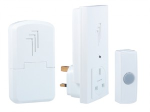 DB313 Wireless Doorbell Kit with Portable & Plug Through Chimes 30m