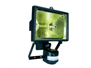 ES400 Halogen Floodlight with PIR Black 400 Watt