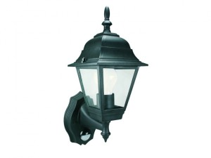 ES94 4-Panel Coach Lantern With PIR Black