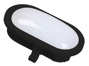 GOL-001-HB LED Oval Bulkhead Black 5.5 Watt 550 Lumen