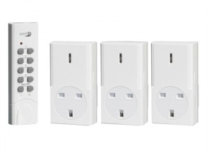 Home Easy Remote Control 3 Pack Socket Kit (White)