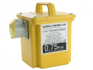 750/1 Transformer Single Outlet Rating 750VA Continuous 375VA