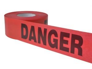 Heavy Grade Barricade Tape - Danger Red 305m (1000ft)
