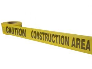 Standard Grade Barricade Tape - Caution Construction Yellow 305m (1000ft)