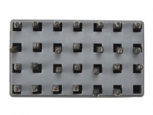 Steel Letter Stamp Set Standard 1/8in