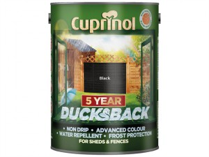 Ducksback 5 Year Waterproof for Sheds & Fences Autumn Black 5 Litre