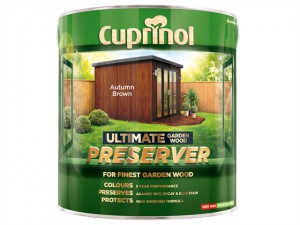 Ultimate Garden Wood Preserver Autumn Brown 4 litre
