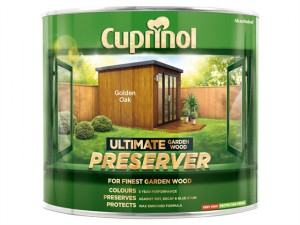 Ultimate Garden Wood Preserver Golden Oak 1 Litre