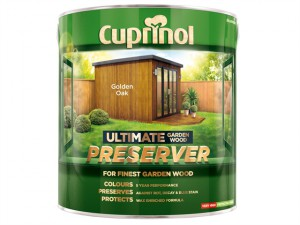 Ultimate Garden Wood Preserver Golden Oak 4 litre