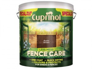Less Mess Fence Care Rustic Brown 6 Litre