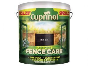 Less Mess Fence Care Rich Oak 6 Litre