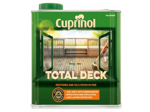 Total Deck Restore & Oil Wood Clear 2.5 Litre