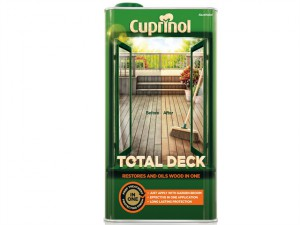 Total Deck Restore & Oil Wood Clear 5 Litre
