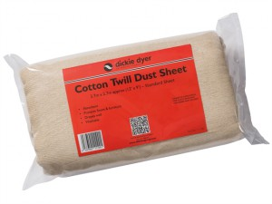 Dust Sheet Medium Cotton Twill 3.7 x 2.7m
