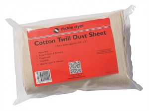 Dust Sheet Medium Cotton Twill 7.4 x 0.9m