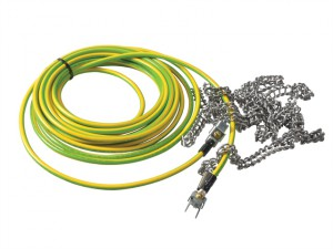 Earthing Cable with Spring Chains 7.6m