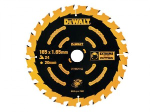 Circular Saw Blade 165 x 20mm x 24T Cordless Extreme Framing