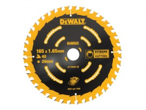 Circular Saw Blade 165 x 20mm x 40T Cordless Extreme Framing