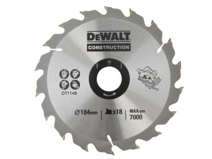 DT1148 Construction Circular Saw Blade 184 x 30mm x 18 Tooth Series 30
