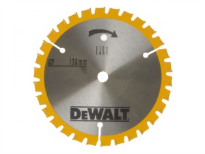 Trim Saw Blade 136 x 10mm x 24T Fine Finish Wood Cut