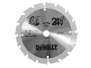 Trim Saw Blade 165 x 10mm x 16T Fast Rip