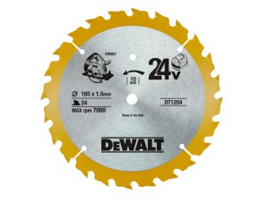 Trim Saw Blade 165 x 10mm x 24T Fine Cross Cut