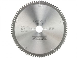Circular Saw Blade 250 x 30mm x 80T Series 40 Extra Fine Finish