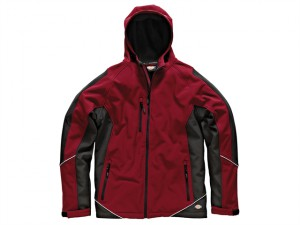 Two Tone Softshell Red/Black Jacket - L (44-46in)