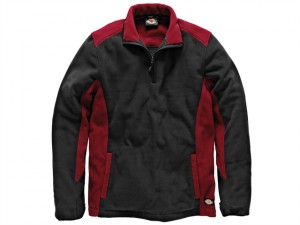 Two Tone Micro Fleece Red / Black - L (41-43in)