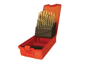 A095 Set 201 A002 HSS TiN Coated Jobber Drill Set of 19 1.0-10.0 x 0.5mm