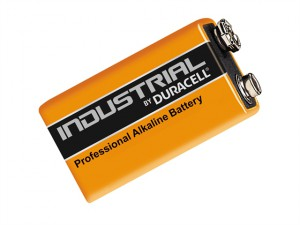Duracell 9 Volt Professional Alkaline Industrial Batteries Pack of 10