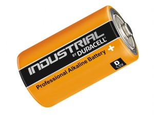Duracell D Cell Professional Alkaline Industrial Batteries Pack of 10