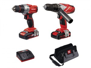 Power-X-Change Combi & Drill Driver Twin Pack 18 Volt 2 x 1.5Ah Li-Ion