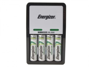 Compact Charger + 4 x AA 1300 mAh Batteries
