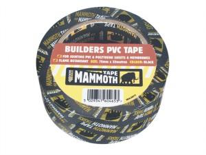 Builder's PVC Tape Black 75mm x 33m