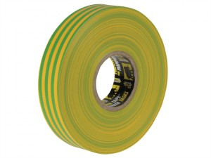 Electrical Insulation Tape Yellow/Green 19mm x 33m