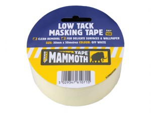 Low Tack Masking Tape 50mm x 25m