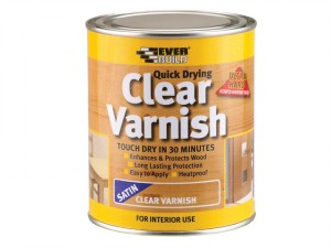 Quick Dry Wood Varnish Satin Clear 750ml