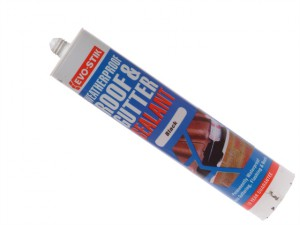 Waterproof Roof & Gutter Sealant - Black 112919