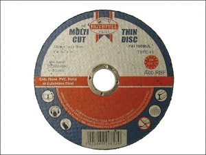 Multi-Cut Thin Cut Off Wheel 100 x 1.0 x 16mm (Pack of 10)