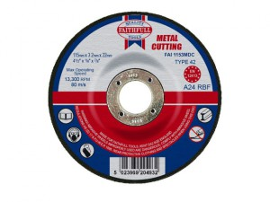 Depressed Centre Metal Cut Off Disc 115 x 3.2 x 22mm