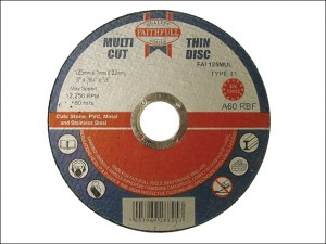 Multi-Cut Thin Cut Off Wheel 125 x 1.0 x 22mm (Pack of 10)