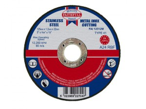 Metal Cut Off Disc 125 x 1.2 x 22mm