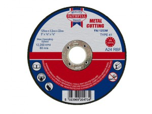 Metal Cut Off Disc 125 x 3.2 x 22mm