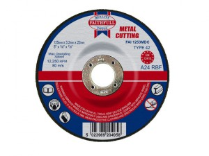 Depressed Centre Metal Cutting Disc 125 x 3.2 x 22.23mm