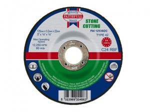 Depressed Centre Stone Cutting Disc 125 x 3.2 x 22.23mm