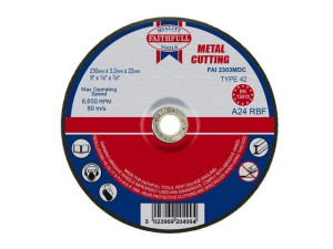 Depressed Centre Metal Cutting Disc 230 x 3.2 x 22.23mm