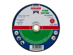 Depressed Centre Stone Cutting Disc 230 x 3.2 x 22.23mm