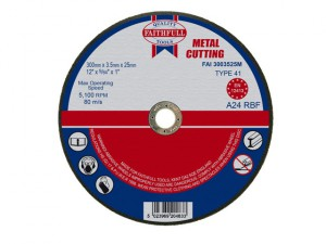 Metal Cut Off Disc 300 x 3.5 x 25.4mm